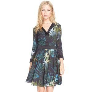 Ted Baker Twilight Floral Fit & Flare Dress 0